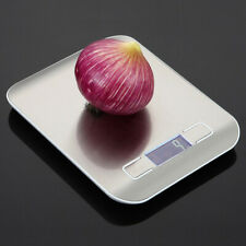 5kg Digital LCD Electronic Kitchen Cooking Foods Weighing Scales Silver