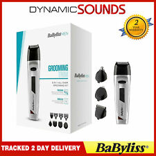 Babyliss 8 in 1 Mens Cordless Nose Body Hair Clipper Beard Trimmer Grooming Kit