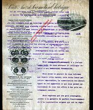"""COLOMBES (92) USINE de TREUILS GRUES OMNIBUS """"Sté de LOCOMOTION ELECTRIQUE"""" 1907"""