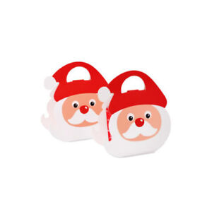 10PCS Christmas Party Paper Favour Gift Cupcake Apple Sweets Carrier Bags Boxes