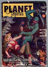 ORIGINAL Summer 1947 PLANET STORIES Mag 20c Fiction House STRANGE ADVENTURES