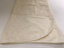 Rare Vintage Peacock Alley King Ivory Eyelet Lace Coverlet MINT