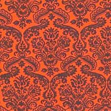 Michael Miller Cotton Fabric CX 3328 Dainty Damask-Clementine BTY