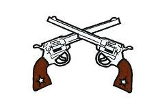 Patch toppe toppa ricamate termoadesiva pistola biker