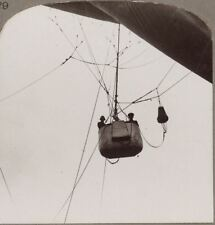The Car of an Observation Balloon in Mid-Air Showing the Parachute Attachment