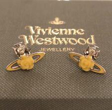 Vivienne Westwood Rose Bas Relief Earrings - Yellow