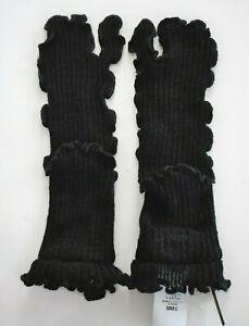 $220 New MAISON MARGIELA MM6 Black 100% WOOL Ribbed TABI Socks SIZE M