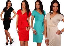 Damenkleider mit V-Ausschnitt aus Viskose für Cocktail-Anlässe