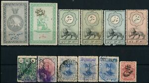 MIDDLE EAST, SCARCE MINT & USED LOT OF 12 DIFFERENT REVENUES. #M883
