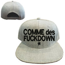Heather gray wool blend COMME DES FUCKDOWN Vintage Snapback Cap Hat