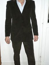 "Costume homme ""Smalto By"" neuf 50 velour côtelé marron fabrication Italie"