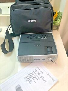 InFocus IN1100 DLP Projector Portable W1100 Lumens HD / With Case & Cables