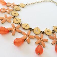 DRESSBARN Necklace Nautical Star Flower Bead Orange EUC