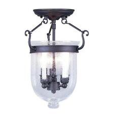 Livex Lighting, Jefferson Bell Style 3-light Ceiling-mount Light Fixture 5081-07
