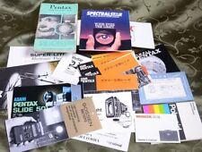Lot (16) Instruction Books & Manuals: Pentax Spectralstar Gossen Minox Polaroid