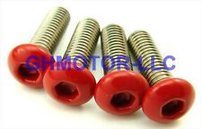 NEW 06 07 ZX-10R ZX1000D COMPLETE GLOSS SHINY RED FAIRING BOLTS SCREWS KIT USA