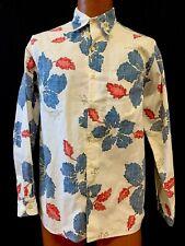 Reyn Spooner Hawaiian Aloha Long Sleeve White Button Front Floral Small S Shirt