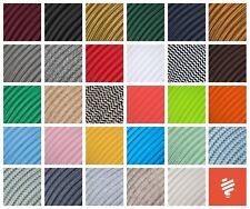 Textilkabel für Lampe, Stoffkabel, Elektrokabel, Stromkabel, Lampenkabel 3-adrig