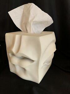 TMS 2007 Vitruvian Tissue Holder Box Cover Dispenser Eye Nose Ear Mouth RARE