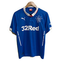 Glasgow Rangers Puma 2014/2015 Soccer Football Shirt Jersey Mens Small