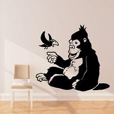 Gorilla wall sticker art decal Jungle forest theme kids bedroom decor w211