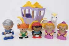 Learning Curve Play Town  wooden figures & carriage knight princess pirate horse