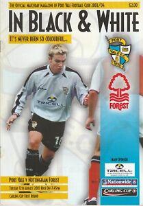 Port Vale v Nottingham Forest  12-Aug-2003