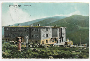 "AK Riesengebirge "" Peterbaude ""  gelaufen 1908"