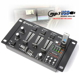 STM-3020B 6 Input 3 Channel Compact Mini Mixer USB MP3 Mobile DJ PA Disco Party