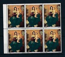 GB 1967 ORO SHIFT valore di errore + Queens HEAD UM MINT marginale blocco di 6