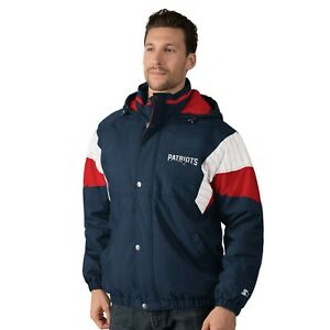 New England Patriots VINTAGE BREAK-OUT Hooded Full Zip/Button NFL Jacket