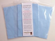 3 Blue Sunshine SOFT Polishing Cloths Jewelry Cleaner Silver Gold Brass Copper