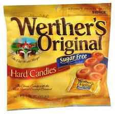 Werther's Original SUGAR FREE  Hard Candies, 1.46 oz Bag classic caramel candy