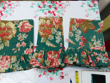"RALPH LAUREN ""ADIRONDACK"" PAIR OF GREEN FLORAL RUFFLED PILLOWCASE-3 AVAILABLE"