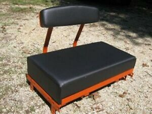 Tractor seat for ALLIS CHALMERS B and C Tractor, USA made with backrest