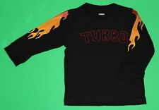 18 24 Euc Gymboree Built For Speed Black Turbo Flame Shirt Top Boys