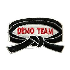 New DEMO Team Patch for Taekwondo Karate JiuJitsu Judo Martial Arts Uniform