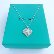 """TIFFANY&Co Silver Nike New Woman SF 07 Pendant Necklace 16"""" with Pouch!!!"""
