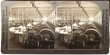 Keystone Stereoview Silk Mill, So. Manchester, CT Version A 1910's Education Set