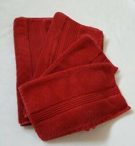 Ralph Lauren Wescott Red Towel Set of 4 Pieces 2 Hand Towel, 2 Washcloth (O