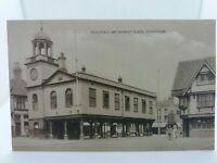 Vtg Postcard Guildhall and Marketplace Faversham Kent c1905 Barclays Bank