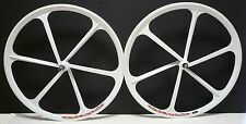 Teny Mag Alloy Fixed Gear/ Single Speed 700c Fixie Front & Rear Wheels set white