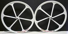Teny Mag Alloy Fixed Gear/ Single Speed700c Fixie Front & Rear Wheels set white