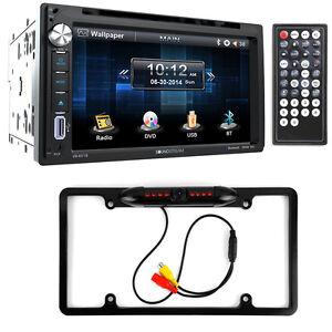 Soundstream VR-651B Double DIN DVD/Bluetooth/CD Car Stereo & Night Vision Camera