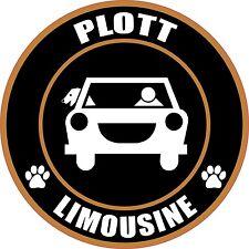 "Limousine Plott 5"" Dog Sticker"