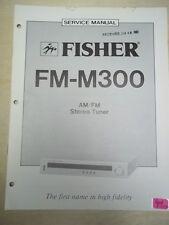 Fisher Service Manual~Fm-M300 Tuner~Original~Repair