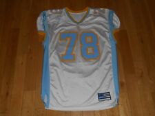 Vintage 2001 adidas Blue Gold VV W Authentic High School or NCAA Team JERSEY 54