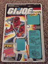 GI Joe Action Figure Full Back File Card ARAH Astro Viper