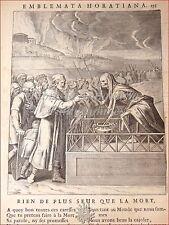 EMBLEMI - VAN VEEN Otto: EMBLEMATA HORATIANA Quinto Orazio Flacco 1683 Bruxelles