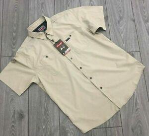 Wrangler Men's Shirt Summer Outdoor Series Moisture Wicking Breathable Fabric